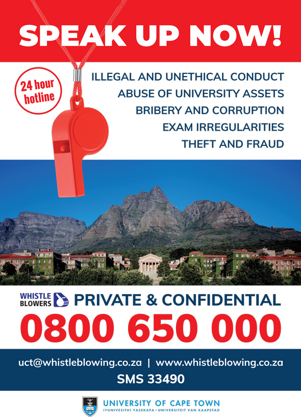 UCT whistleblowing hotline