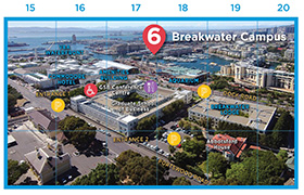 Breakwater Campus map