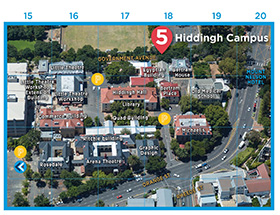 Hiddingh Campus map